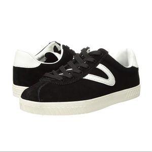 Tretorn Black Suede & Leather Sneakers Sz 6